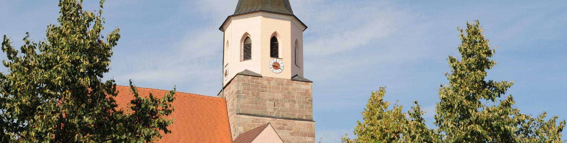 Verabsedung mit Storch und Goldammer - tolle Wanderwege im Gemeindegebiet Freystadt